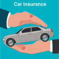 Car insurance, protection concept, vector illustration Royalty Free Stock Photo