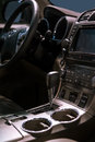 Car interior with automatic transmission Stock Photos