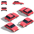 Car isometry. Low detailing isometric view of the cars