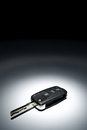 Car key on dark background Stock Image