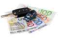 Car Key and Money Stock Image