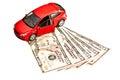 Car, key and money Royalty Free Stock Photo