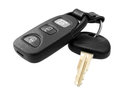 Car key with remote control isolated Royalty Free Stock Image