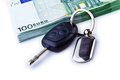 Car keys and â'  banknotes Royalty Free Stock Photo