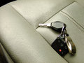 Car Keys on the Front Seat Royalty Free Stock Photo