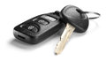 Car keys isolated on a white background Royalty Free Stock Image