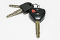 Car keys with remote control. Royalty Free Stock Photo