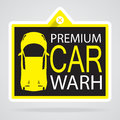 Car label info eps vector format Stock Photography