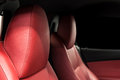 Car leather seats. Royalty Free Stock Photo