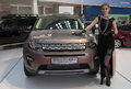 Car lend rover discovery sport belgrade march th international motor show on belgrade show march in belgrade serbia Stock Photo