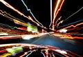 In-car lichten van verkeer Stock Fotografie