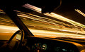 Car light trails 1 - driver Royalty Free Stock Image