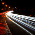 Car lights trails Royalty Free Stock Photography