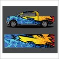 stock image of  Car livery vector. abstract explosion with grunge
