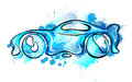 Car made of splashes wash concept Stock Photos