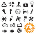 Car mechanic icons Royalty Free Stock Images