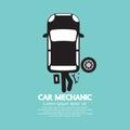 Car Mechanic Repairing Under Automobile