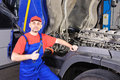 Car mechanic in service Royalty Free Stock Photo