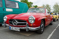 Car mercedes benz sl berlin may th oldtimer tage berlin brandenburg may berlin germany Stock Photography