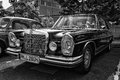 Car mercedes benz w se black and white berlin may th oldtimer tage berlin brandenburg may berlin germany Royalty Free Stock Photos
