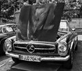 Car mercedes benz w sl black and white berlin may th oldtimer tage berlin brandenburg may berlin germany Stock Image