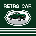 car old vintage poster Royalty Free Stock Photo