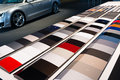 Car paint samples Royalty Free Stock Photo