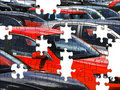 Car park jigsaw Royalty Free Stock Photo