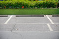 Car park and reserve on asphalt with with line Stock Photography