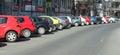 Car parking in bucharest romania Stock Photo