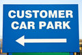 Car parking sign for customers. Royalty Free Stock Images