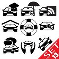 Car part icon set 13 Stock Image