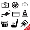 Car part icon set 3 Stock Image