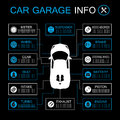 Car part information vector format Royalty Free Stock Photos