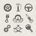 Car part set of repair icon Stock Images