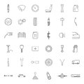 Car parts. Icons set. Royalty Free Stock Photo
