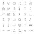 Car parts. Icons set. Royalty Free Stock Photo
