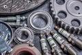 Car parts motor gear close up air filter Stock Photo
