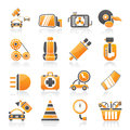 Car parts and services icons vector icon set Stock Image