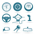 Car parts vector illustration of various Stock Photo
