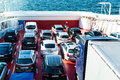 Car and passenger ferry in Norway Royalty Free Stock Photo
