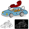 Car Phone Line Drawing Royalty Free Stock Images