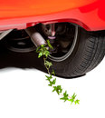 Car pollution environmental with ivy coming out of the exhaust instead of smoke Stock Photography