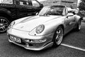 Car porsche front view black and white berlin may th oldtimer tage berlin brandenburg may berlin germany Royalty Free Stock Images