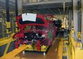Car production line on which the products cars Stock Images