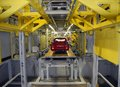 Car production line on which the products cars Stock Image