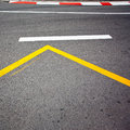 Car race asphalt and curb on monaco montecarlo grand prix street circuit Stock Image