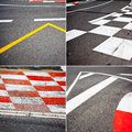 Car race asphalt theme on monaco grand prix track Stock Image