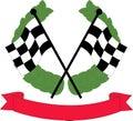 Car racing flags Royalty Free Stock Photo