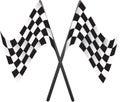 Car racing flags